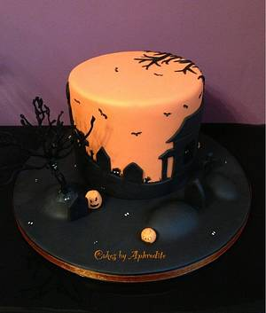 Halloween silhouette  - Cake by Frances