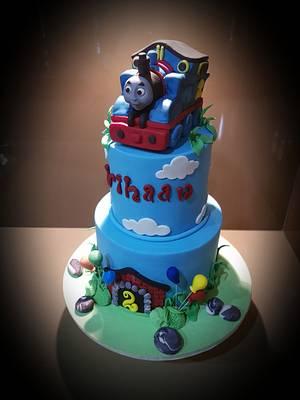 Thomas the Train Cake - Cake by Su Cake Artist