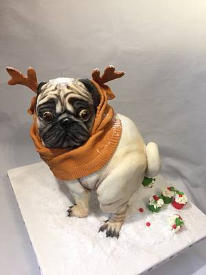 """CPC Christmas collaboration """" The Christmas pug popping muffins """" - Cake by Nightwitch"""