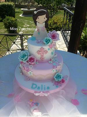 Lovely girl First Communion cake - Cake by Miss Zuccherina cake designer
