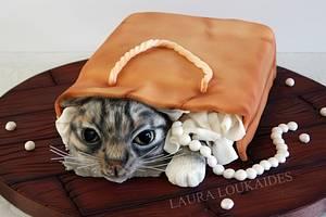 Tabby Cat Cake - Cake by Laura Loukaides