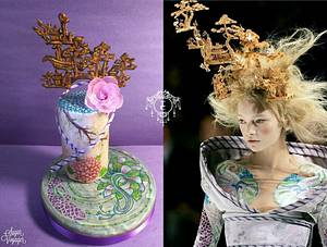 Chinese Garden - Couture Cakers 2018 collab  - Cake by sugar voyager