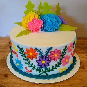 Mexican fiesta birthday cake - Cake by Tiffany DuMoulin