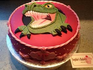 T-Rex girl cake - Cake by Sophie's Bakery