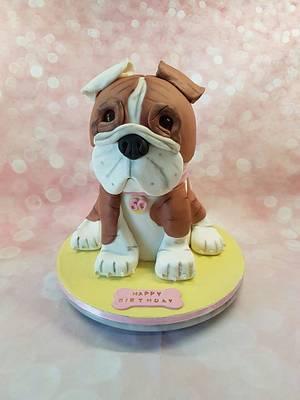 3D Bulldog cake - Cake by Rina Kazimierczak