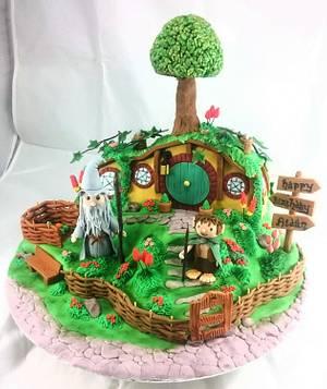 Hobbit Hole - Cake by SugarMagicCakes (Christine)