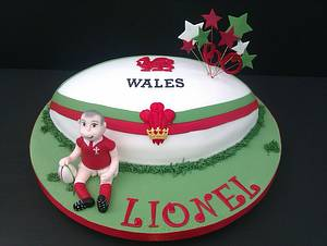 Welsh Rugby Ball Cake - Cake by The Crafty Kitchen - Sarah Garland