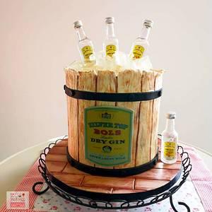 Buttercream Cake - Gin Cake - Cake by Unique Cake's Boutique
