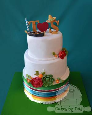 Mexican inspired wedding cake - Cake by Cakes by Cris