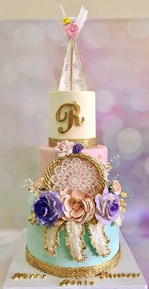 Dream catcher cake  - Cake by Tiers of joy