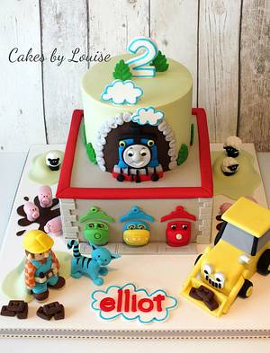 Thomas the tank and friends! - Cake by Louise Jackson Cake Design