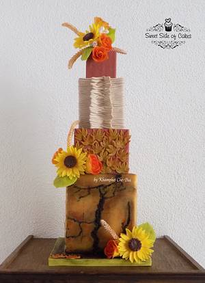 Indian Spring - Cake by Sweet Side of Cakes by Khamphet