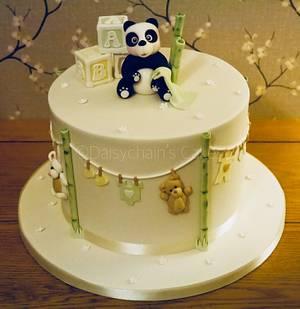 Panda baby shower cake - Cake by Daisychain's Cakes