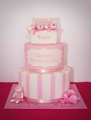 Pretty in Pink Toy Box Cake - Cake by Kate