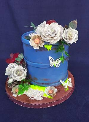 CPC's Earth Day Collaboration 2018  Recycling flowers - Cake by Gabriela Rüscher