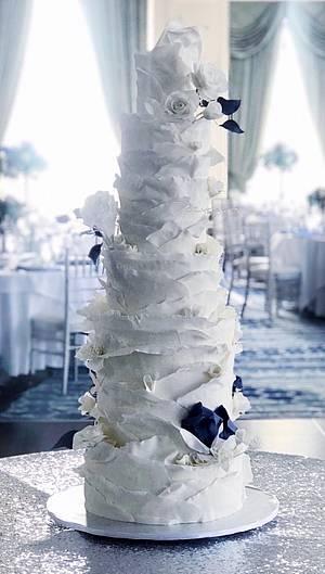 Sugar Ruffles Wedding Cake - Cake by Dozycakes