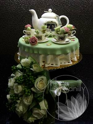 20th Wedding Anniversary Cake - Cake by Lily Vanilly
