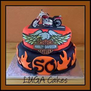 Harley Davidson's Cake - Cake by Luga Cakes