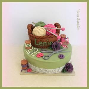 Knitting cake - Cake by Karen Dodenbier