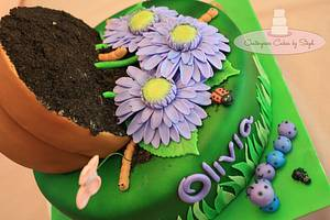 Flower Pot Bugs :)  - Cake by Centerpiece Cakes By Steph