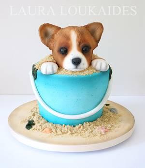 Quinn the Corgi - Cake by Laura Loukaides