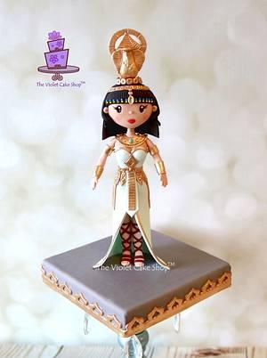 ZAHRA - Egyptian Warrior Princess for Sugar Dolls Collaboration - Cake by Violet - The Violet Cake Shop™