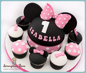 Big Cake Little Cakes : Minnie Mouse - Cake by Scrumptious Buns