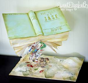 Storybook Baby Shower Cake - Cake by Sweet Elizabeth Cake Design