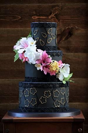 Black wedding cake - Cake by beth