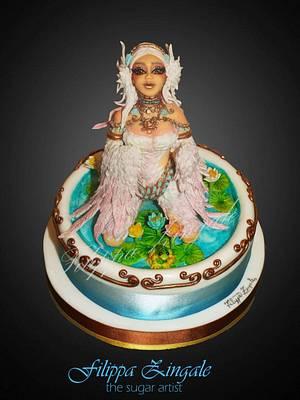 The white swan  - Cake by filippa zingale