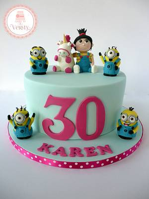 Despicable Me - Cake by Cakes by Verity