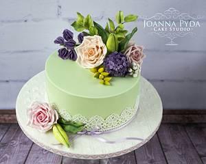 Mint Wedding Cake - Cake by Joanna Pyda Cake Studio