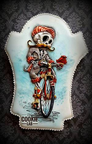 Sugar Skull Collaboration - 2017 - Cycling till I die.... - Cake by The Cookie Lab  by Marta Torres