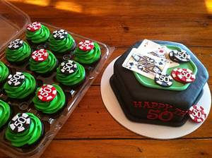 Poker-Themed 50th - Cake by Kendra