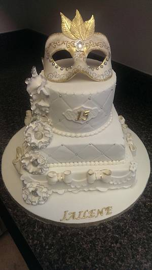 Quinceanera Cake - Cake by Nizelle Olivo
