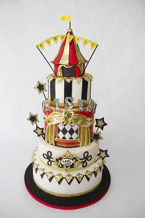 Antique Circus Cake - Cake by Andres Enciso