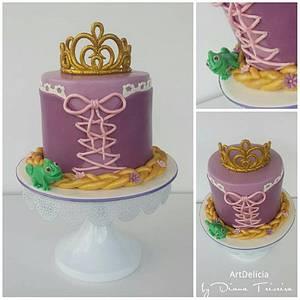 Anniversary Cake - Rapunzel - Cake by Unique Cake's Boutique