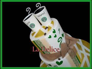 starbucks bride  - Cake by la delice