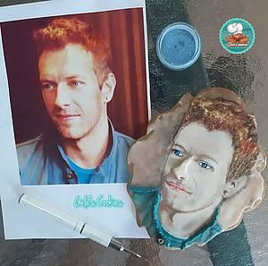Chris Martin of Coldplay cookie - Cake by Gele's Cookies