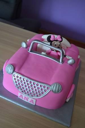 Minnie mouse car - Cake by Zaklina