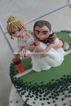 Rugby wedding cake Hunslet Hawks - Cake by Zoe's Fancy Cakes