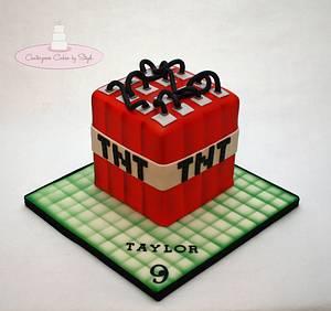 TNT - Minecraft - Cake by Centerpiece Cakes By Steph