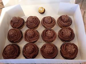 Ferrero Rocher Cupcakes - Cake by Sweet Lakes Cakes