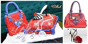 Guess bag and jimmy Choo stilettos  - Cake by TheWhiskByHema