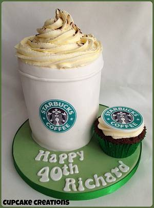 Starbucks Coffee Cup Cake - Cake by Cupcakecreations