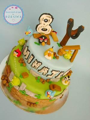 Angry birds cake - Cake by Dzesikine figurice i torte