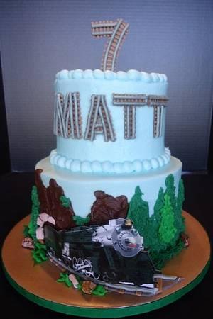 Matt's Horseshoe Bend train - Cake by GranDo