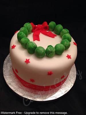 Sprout Christmas cake - Cake by Caron Eveleigh