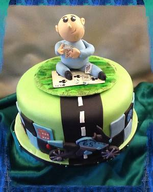 """Jim's 65th  - Cake by June (""""Clarky's Cakes"""")"""