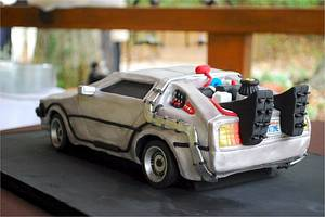Back to the Future DeLorean Groom's Cake! - Cake by Jenniffer White
